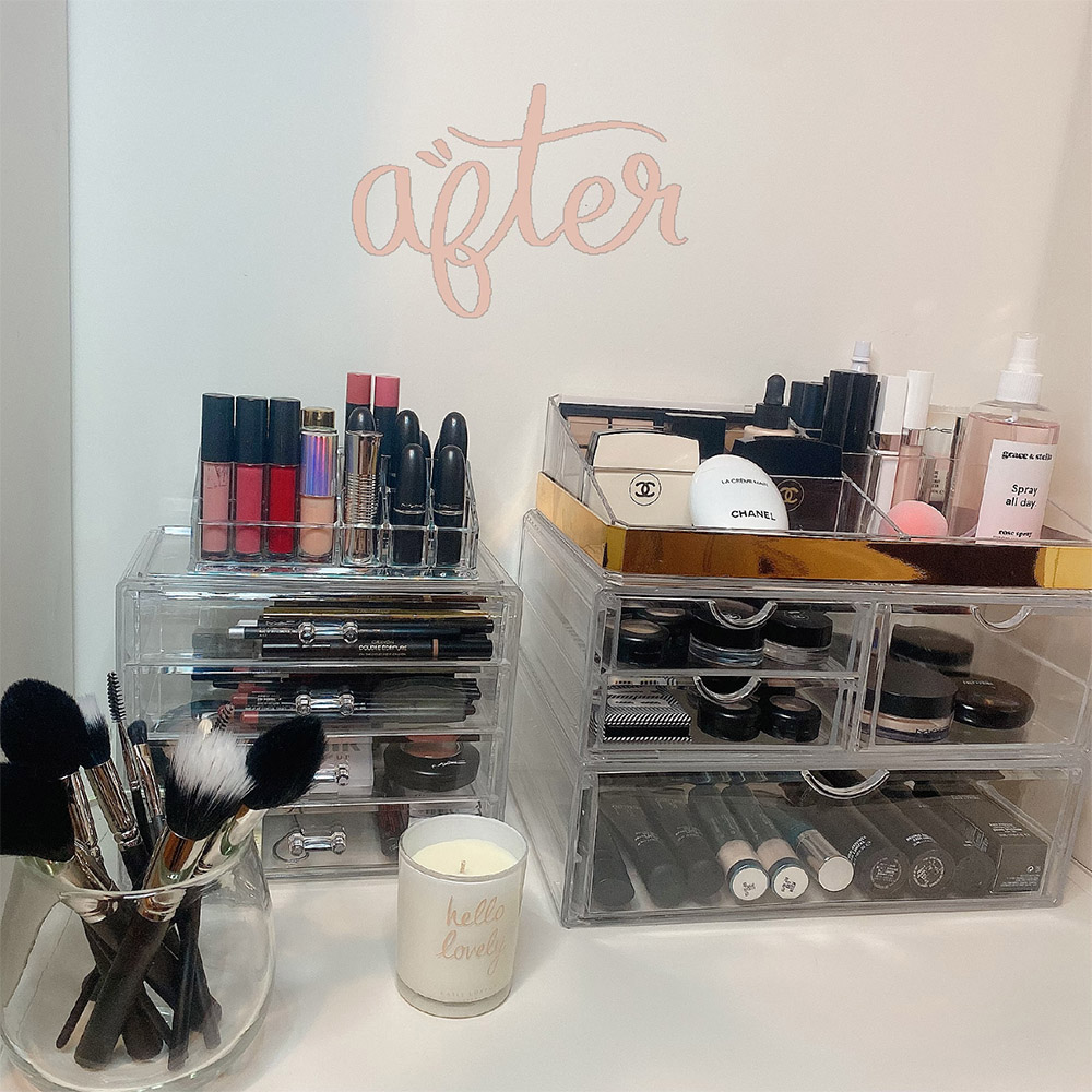 Home to keep your make-up organized